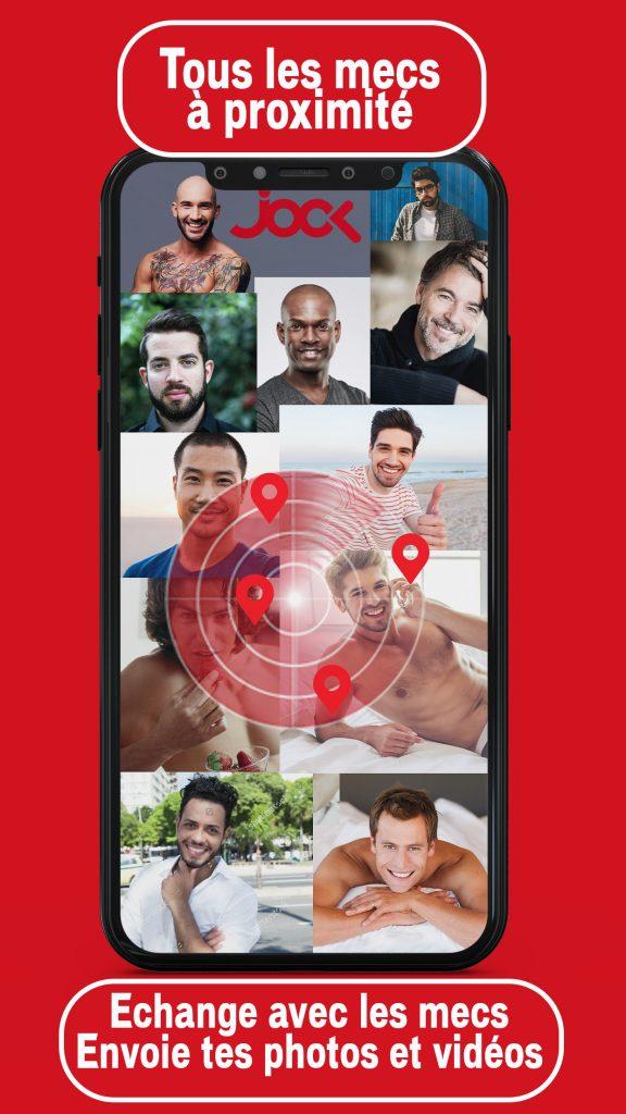 Échange avec tous les mecs à proximité (messages, photos, vidéos)